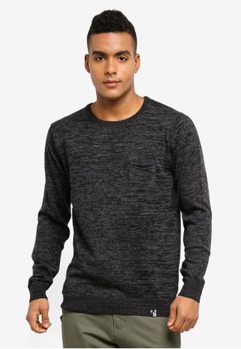 Indicode Jeans black Arjun Knitted Melange Sweater AC1C6AAEC7BCFCGS_1