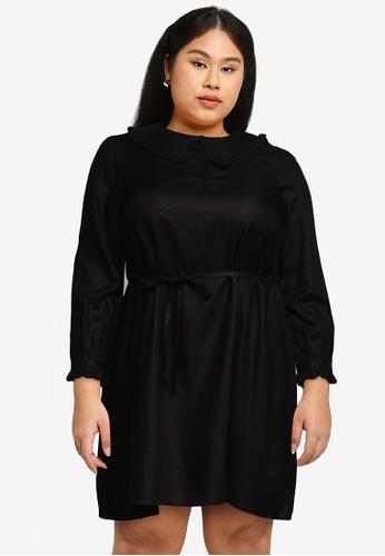 Vero Moda black Casia Ls Above Knee Dress  - K Curve 5DB74AA714518CGS_1