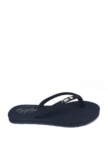 Ripples black Pearlyn Diamond Stud Leather Ladies Sandals RI425SH0FPAESG_1
