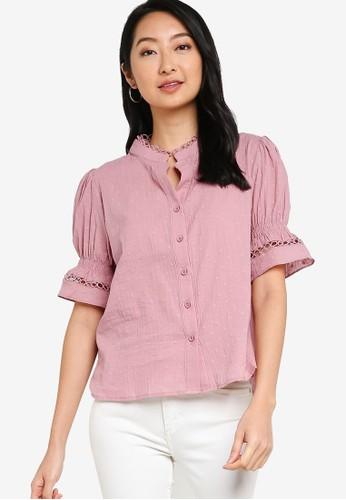 ZALORA BASICS pink Bell Sleeve Blouse 84513AA6F75B44GS_1