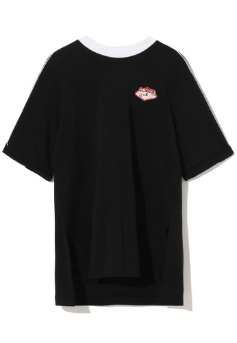 tout à coup black Piped embroidered badge tee 7EB8DAA651E6A7GS_1
