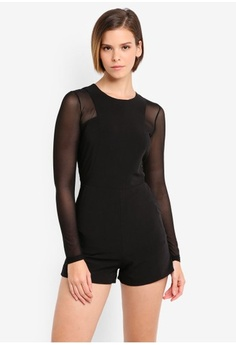 9ceac267d73 Psst... we have already received your request. MDSCollections. Mesh Romper  In Black