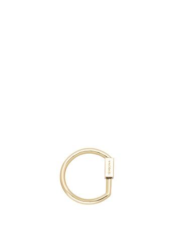 SEMBONIA gold Initial Bag Charm Carabiner D3A82AC2888E5EGS_1