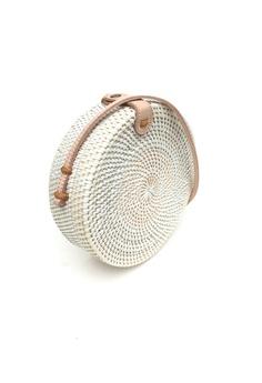 2e90d65cbf ASHLEY SUMMER CO Round Basket Bag (White) S  89.00. Sizes One Size