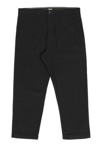 izzue black Tapered crop pants 93CE5AA086F812GS_1