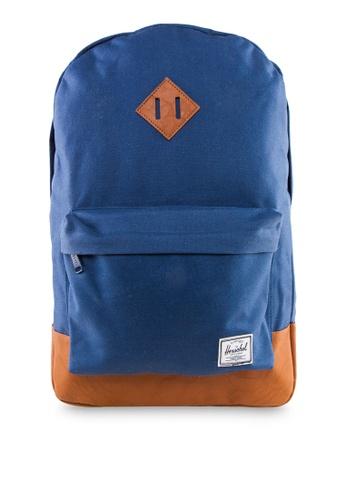 Herschel blue Heritage Backpack HE305AC85YFESG_1