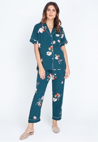 FEMINISM blue Shortsleeve Pajama 0BCF6AAAD082C5GS_1