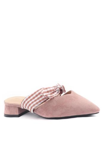 Twenty Eight Shoes 優質絨面蝴蝶結尖頭拖鞋903-8 217A8SHEF0D3E7GS_1