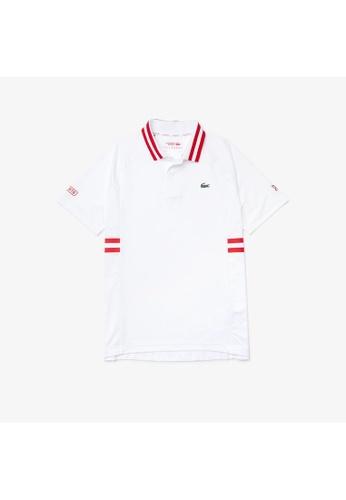 Lacoste white Men's Lacoste SPORT x Novak Djokovic Breathable Ultra-Dry Polo Shirt 118CCAAE5593DAGS_1