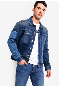 4061f5267d8 Calvin Klein blue 1 Pocket Trucker Denim Jacket - Calvin Klein Jeans  260DBAAAEBF7D6GS 1