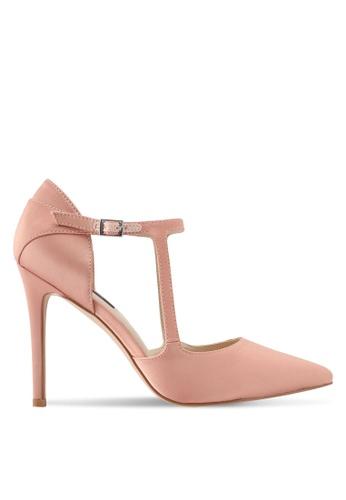 ZALORA 粉紅色 繞踝繫帶高跟鞋 09C86SH746D5D5GS_1