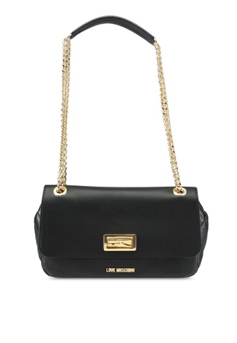 Love Moschino black Borsa Quilted Nappa Shoulder Bag LO478AC0SEIEMY_1