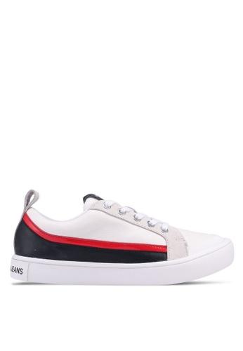 Calvin Klein white and multi Dino Sneakers 9729ESHDF479EAGS_1