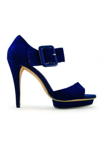 Gripz blue Imogen Big Buckle Ankle heels GR357SH47SPKSG_1