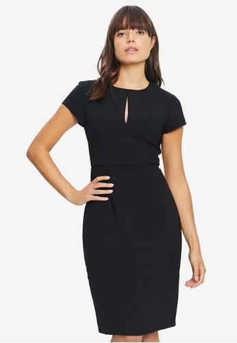 REUX 黑色 Kylie Tuck Neck 洋裝 AB825AA44B8061GS_1