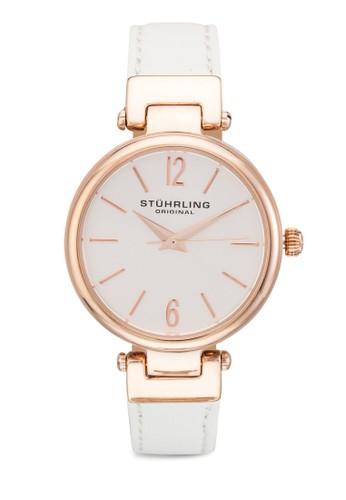 Clasesprit台灣網頁sique 956 真皮細帶圓錶, 錶類, 飾品配件