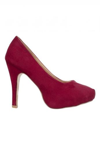 Celsius red Celsius - Velvet Pump Heels (Red) C91F2SH318FD16GS_1