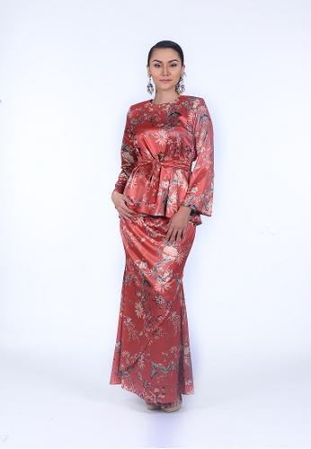 Marissa Blouse from Rumah Kebaya Bangsar in Orange
