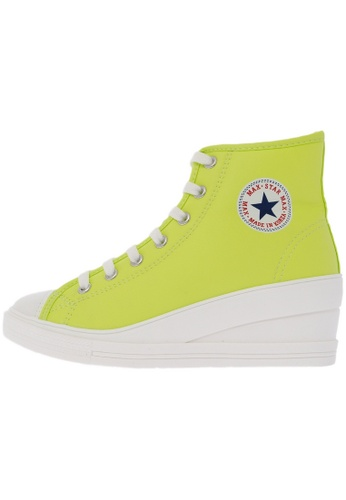 Maxstar 7H 7 Holes Synthetic Leather Side Zipper White Platform High Top Sneakers US Women Size MA168SH73DLYHK_1
