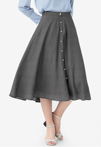 Kodz black Pearl Embellished Skirt 59BDAAA98B6BEBGS_1