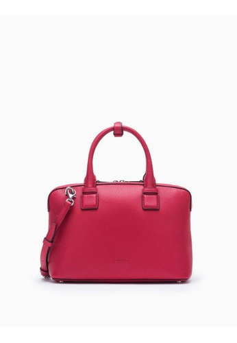 Calvin Klein red Engineered Small Tote Bag With Zipper 5C641AC8AC2545GS_1