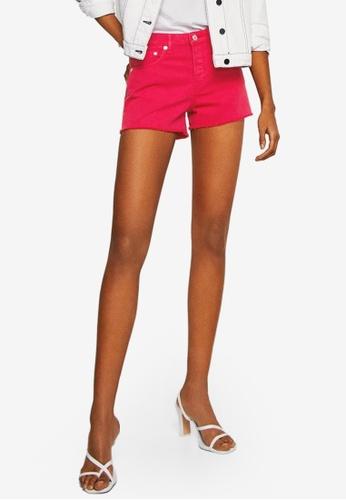 Mango pink Frayed Denim Shorts 9C99CAA4B1BAB1GS_1