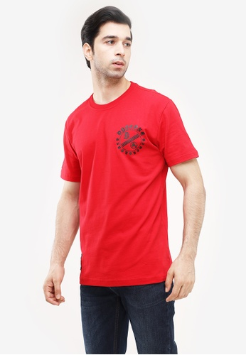 Dyse One red Round Neck Regular Fit BD667AA4C44CE9GS_1