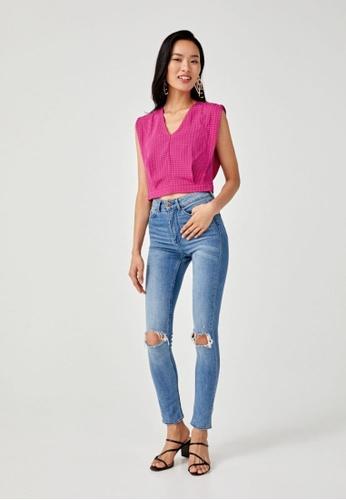 Love, Bonito pink Lilliana V-neck Top 9E979AAEFB63C1GS_1