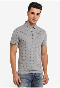 【ZALORA】 城市短袖 Aop Jersey POLO 衫