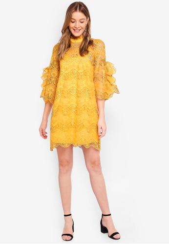 Y.A.S yellow Diadora 3/4 Dress 7DAF3AA1C0CEF8GS_1