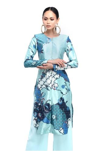 Propaganda - Kurti in Sky Breeze Batik from Propaganda in Blue