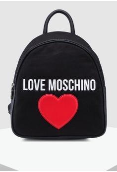 bdbd5ed1 Love Moschino black Canvas Zip Around Backpack D5353AC066A669GS_1