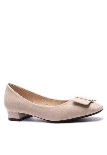 Twenty Eight Shoes 尖頭方扣絨面高踭鞋1205-44 B8903SHC92430EGS_1
