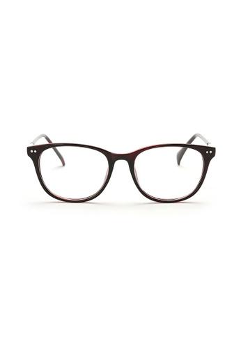 Kyfer's Eyewear & Essentials red and silver Horn Rim Eyewear II KY376AC76ZWPSG_1