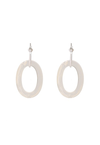 niko and ... white Oval Dangle Earrings 1777DACBC70804GS_1