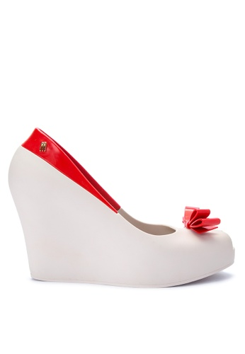Melissa red and beige Queen Wedge ME121SH0IZNLPH_1
