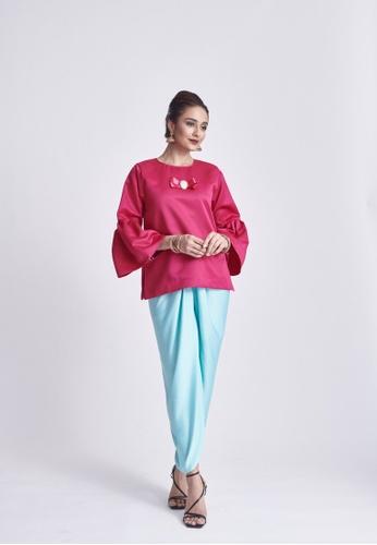 Klambi KL pink and blue OMNA SHOCKING PINK SET 06163AA0DAECC1GS_1