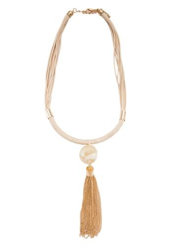 大理石esprit hk store流蘇裝飾項鍊, 飾品配件, 項鍊
