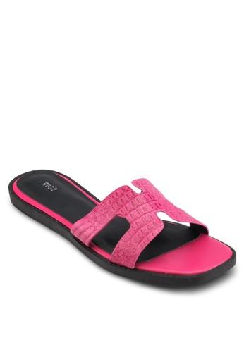 鱷esprit台北門市魚紋平底涼鞋, 女鞋, 鞋