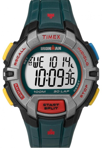 TIMEX multi Timex IRONMAN® Rugged - 30 Full-Size with Multicolour Case and Resin Strap TI857AC03NTOSG_1