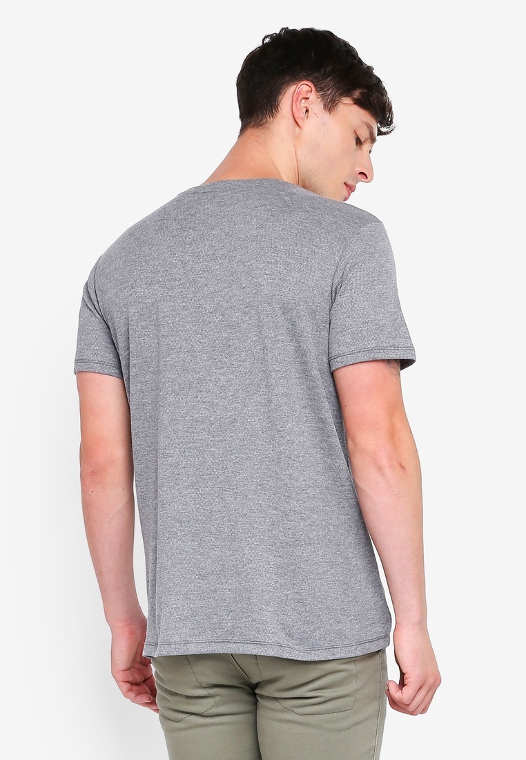 Short ESPRIT Sleeve Grey Shirt T Medium qqaU4fz