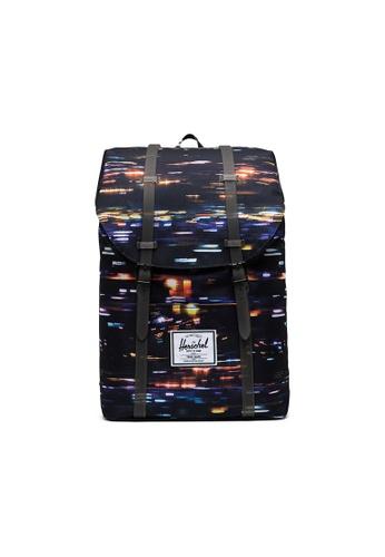 Herschel black Herschel Retreat Backpacks - Night Lights 24489AC314FF94GS_1