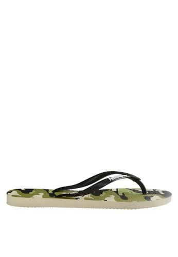 5a6b45277332 Shop Havaianas Slim Camu Flip Flops Online on ZALORA Philippines
