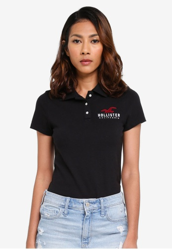 Hollister black EXT Polo Shirt F4D6AAA297A6B3GS_1