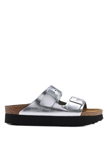 a23bd33487cc Shop Birkenstock Arizona Platform Metallic Sandals Online on ZALORA  Philippines