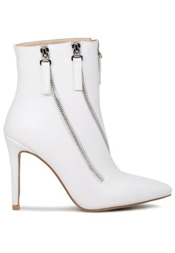 London Rag white White High Heel Boot with Zippers SH1706 AFCC9SH2B53FD0GS_1
