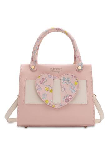 PLAYBOY BUNNY pink Women's Sling Bag / Shoulder Bag / Crossbody Bag FF561AC3A952BEGS_1