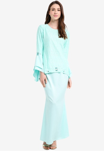 peace collections green Lace Baju Kurung F2971AAB23AD53GS_1