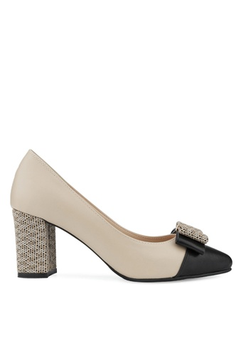 SPUR black and beige Gracefully pumps BC906SHCF24F43GS_1