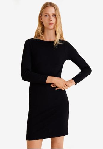 MANGO black Fitted Jersey Dress 9CBF4AAC5010B4GS_1